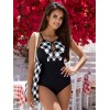 MBM BELTED MESH ONE-PIECE